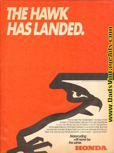 1977 Honda ''The Hawk Has Landed'' 1-Page Ad