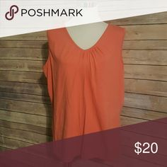 Orange tank Size 3x. Burnt orange tank with pleats at neckline. choices Tops Tank Tops