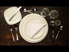 How To Set A Formal Dinner Table - YouTube