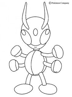 Flying Ledian Pokemon coloring page. Find free coloring pages, color poster and pictures in BUG POKEMON coloring pages! Print out and color these free . Pokemon Coloring Sheets, Poster Colour, Coloring Pages For Kids, Easy Drawings, Smurfs, Manga, Tv Series, Pictures, Painting