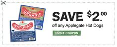 High-Value Applegate Organic Hot Dogs Coupon (Facebook)