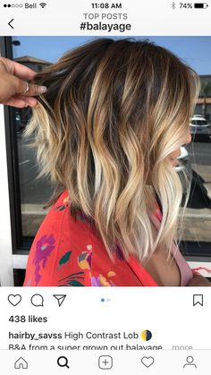 58 super hot long bob hairstyle ideas you want to cut your hair with right away . - nice 58 super hot long bob hairstyle ideas you want to cut your hair with immediately Bronde Balayage, Balayage Hair Blonde, Babylights Blonde, Balayage Long Bob, Long Bob Ombre, Lob Ombre, Ombre Bob Hair, Lob Balyage, Dark Brown Blonde Balayage