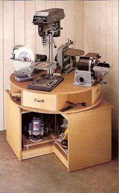 rotating tool bench