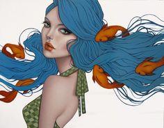 "Illustration - Ebb and Flow by Sarah Joncas. 14 x 18"", oil."