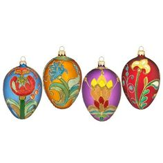 Waterford Holiday Heirlooms Jim O'Leary Beaded Lace Seasonal Egg Ornaments, Set of 4 - Waterford by Waterford Crystal, http://www.amazon.com/dp/B007CL6P0Y/ref=cm_sw_r_pi_dp_Xw8zqb1Y93TZS