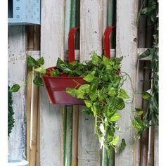 Red Oval Railling Planter Medium