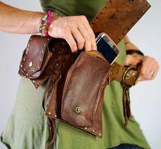GOA Handmade Leather Utility Belt Medieval belt Gypsies money Кожаная  Сумочка, Изделия Кожа Ручной Работы 8408b1b9d2b