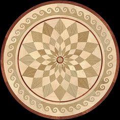 MQM106b - NEPTUNE hardwood floor medallion