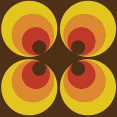 Retro 70's circle pattern: ARW002 | Astek Retro Wallpaper
