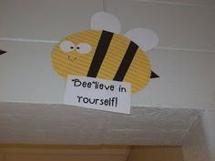 "School rules: ""bee""lieve in yourself, ""bee"" a good listener, ""bee"" responsible, ""bee"" a hard worker, ""bee"" kind. Too stinking cute!"