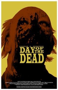 George A. Romero's Day of the Dead poster by shan 01 Horror Movie Posters, Film Posters, Horror Movies, Fan Poster, Movie Poster Art, Day Of The Dead Artwork, George Romero, Zombie Movies, Zombies