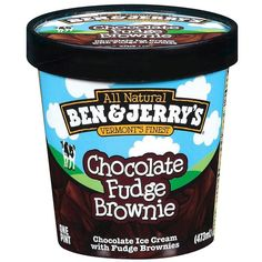 Ben Jerry's Chocolate Fudge Brownie Ice Cream 16-oz. ($75) ❤ liked on Polyvore