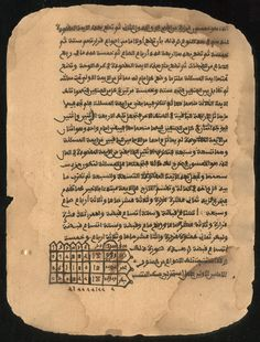 The Libraries of Timbuktu.  This commentary by the eighteenth-century scholar al-Rasmuki explains a work by al-Samlali the medieval mathematician. Using charts and examples of problems, the commentator demonstrates the rules of addition, subtraction, multiplication, and division. He also discusses the history and development of mathematics. The text was used extensively by students in Timbuktu and North Africa.