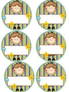 Badges for Kindergarten Children - Preschool Children Akctivitiys First Day Of School, Pre School, School Days, Sunday School, Preschool Art, Preschool Activities, Childhood Education, Kids Education, School Frame