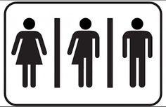 Resultado de imagen para señales baños hombres y mujeres+trans