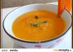 Krémová polévka z dýně recept - TopRecepty.cz Cheeseburger Chowder, Thai Red Curry, Soup, Treats, Ethnic Recipes, Hokkaido, Sweet Like Candy, Goodies, Soups