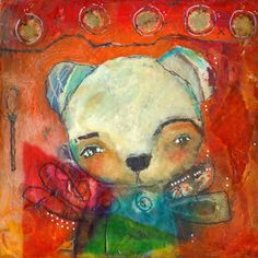 Whimsical Owls and Other Mixed Media Art From the Heart by Juliette Crane: A New Mixed Media Painting: ACCEPTANCE