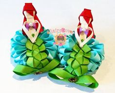 little mermaid puffy loopy bow