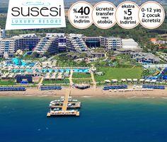 Susesi Luxury Resort Hotel'de 0-12 yaş 2 çocuk ÜCRETSİZ. Son gün 30 Ocak! Bilgi ve Rezervasyon: ☎ 0212 211 40 20 - 21