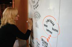 Visual Scribing: Samantha Tozzi inizia il suo lavoro. Ovvero: Un disegno dice più di mille parole! #noipiemonte - foto di C. Pellerino