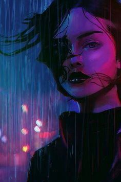 Art Sketches, Art Drawings, Cyberpunk Kunst, Art Et Design, Cyberpunk Aesthetic, Digital Art Girl, Anime Art Girl, Aesthetic Art, Portrait Art
