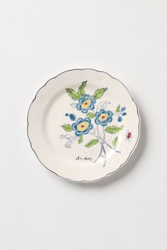 Amicable Aster Dessert Plate