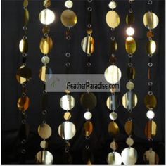 WHOLESALE BULK DISCOUNT CHEAP Long Poly Round Mirror Film Garland red purple gold silver