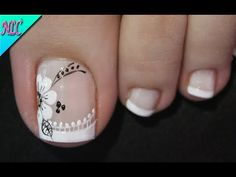 Pedicure Designs, Pedicure Nail Art, Toe Nail Designs, Toe Nail Color, Toe Nail Art, Nail Colors, Pretty Toe Nails, Cute Toe Nails, May Nails