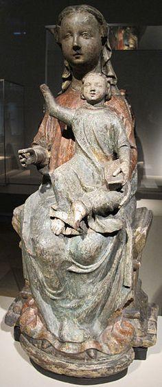 Madonna col bambino in trono, brabante, 1260