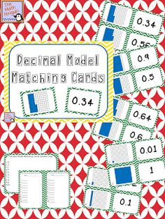 Classroom Freebies Too: Decimal Model Matching Cards