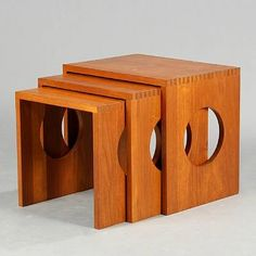 Nesting tables (set of 3) by Jens Quistgaard