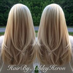 awesome Multidimensional blonde with long layers Meaghan L...