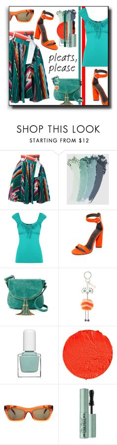 """""""Pleats Please"""" by kelly-floramoon-legg on Polyvore featuring Sacai, Gucci, Kendall + Kylie, Deluxity, Fendi, tenoverten, Givenchy, CÉLINE, Too Faced Cosmetics and NYX"""