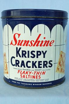 Sunshine Krispy Crackers Tin 15 oz. - $15