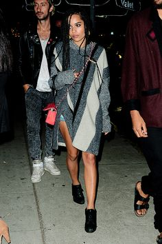 Zoe Kravitz at Lily Allen's after party on 10 October 2014 in Los Angeles. Jimmy & Zoë.