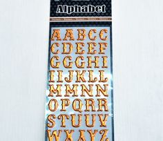 Metalic Alphabet Stickers Set for Sheets. This product is available in various colour options Alphabet Stickers, Creative Crafts, Paradise, Scrapbook, Colour, Metal, Color, Crafts, Scrapbooks