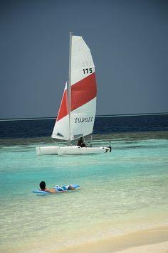 Sailing in Maldives