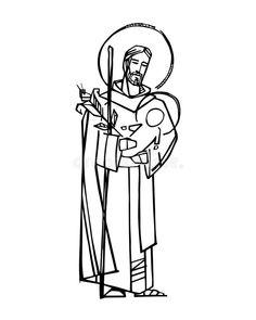 St Joseph Catholic, Catholic Art, Catholic Saints, Religious Art, Catholic Pictures, Pictures Of Jesus Christ, Saint Feast Days, Church Graphic Design, Cute Little Drawings