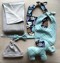 100% Cotton Reversible Adjustable Baby Bib by LolaMarieDesigns