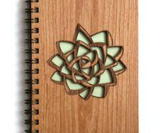 Ginkgo Pattern Wood Journal by Cardtorial on Etsy