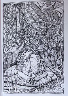 Manic Botanic Zifflins Tension Taming Coloring Book Invites You