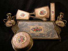 Vintage China Dressing Table Set | Vintage Homemaking-1930\'s thru ...