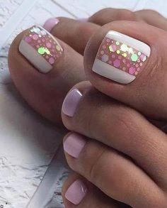 Superb toe nail design with stars, Nail Designs - It's All Hair To Me. - Superb toe nail design with stars, Nail Designs – It's All Hair To Me ~ - Simple Toe Nails, Pretty Toe Nails, Cute Toe Nails, Summer Toe Nails, My Nails, Summer Pedicures, Gel Toe Nails, Toe Nail Color, Toe Nail Art