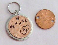 Custom pet ID personalized dog tag cat ID charm pet collar #maggiemaybecrafty #petid