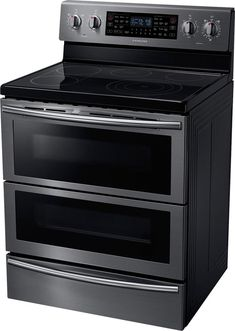 Self-Cleaning Freestanding Fingerprint Resistant Double Oven Electric Convection Range Black stainless steel at Best Buy. Convection Cooking, Oven Cooking, Double Oven Stove, Freestanding Double Oven, Utility Cabinets, Small Kitchen Organization, Single Oven, Cooking Pumpkin, Oven Range