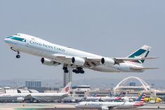 Cathay Pacific Cargo departing LAX on June Pacific Airlines, Cargo Airlines, Cathay Pacific, Air Photo, Boeing 747, Planes, Aircraft, June, Collection