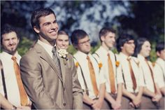 The face that a groom makes when he sees his bride is my favorite part about weddings.