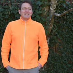 Men's Fleece Jacket Sewing Pattern is a slim fitting jacket with contoured seams on both body and sleeve. Designed for Men's sizes PDF sewing pattern Coat Pattern Sewing, Pdf Sewing Patterns, Mens Fleece Jacket, Collar Pattern, Kimono Jacket, French Terry, Nike Jacket, Sporty, Zippers