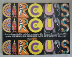 The Circus Exhibit Program Museum of Science & Industry 1973 PB Sears Roebuck Co