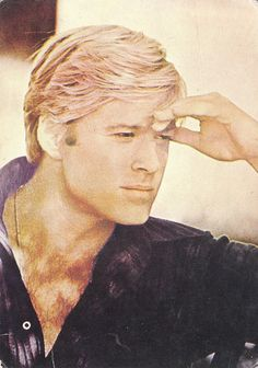 Robert Redford .. like a drawing (it's a postcard)